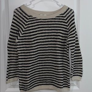 Ann Taylor Black and White Knit Sweater